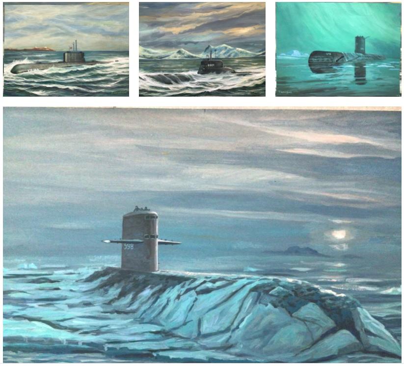 Ubåt Malerier